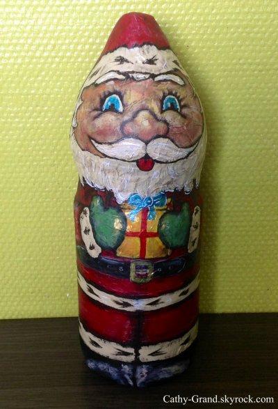 Idée recup'  : Le Père Noël en bouteille plastique