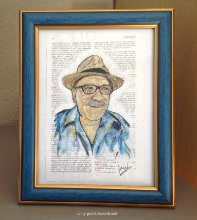 Portrait sur page de vieux dico !