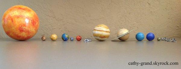 Maquette de notre système solaire + Pluton !