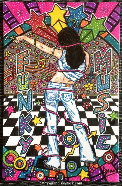 "Pop art , "" Funky music"""