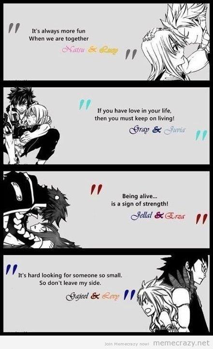 Mes couples préféré dans Fairy Tail♥
