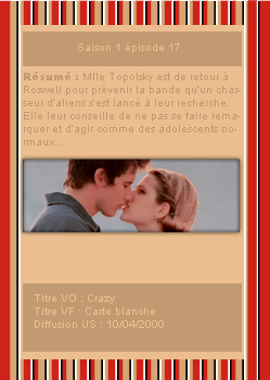 # DeliciousRoswell ___________ Article Episode 1x17  -------------------- Création / Décoration / inspiration