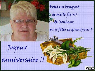 JOYEUX  ANNIVERSAIRE  BEATRICE   BISOUS DANY
