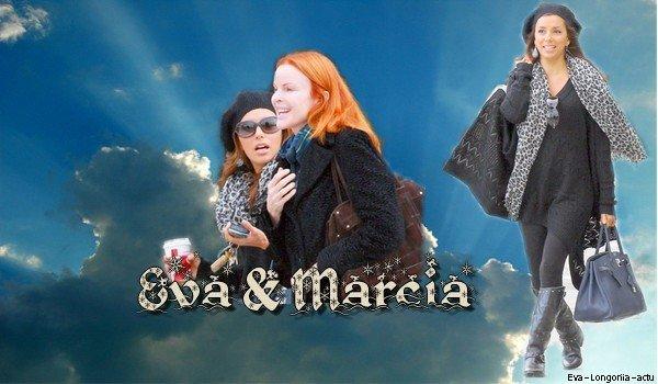 . Jeudi 23 Décembre 2010 . Eva a été aperçu à Los Angeles en compagnie de Marcia Cross (Qui joue Bree Van de Kamp à ses cotés dans Desperate Housewives). Elles ont été faire du shopping & ont bu un café ensemble. .