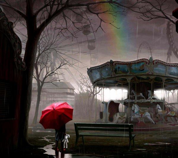 balade sous la pluie