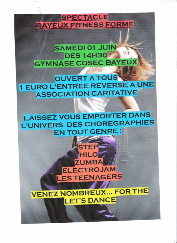 SPECTACLE BAYEUX FITNESS FORME