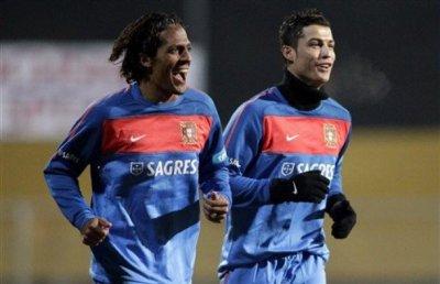 Cristiano a l'entrainement avec le Portugal      07/02/11