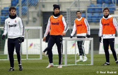 Cristiano a l'entrainement avec le Real