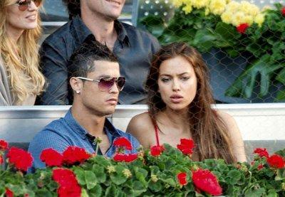Cristiano Ronaldo et Irina au Master de Madrid