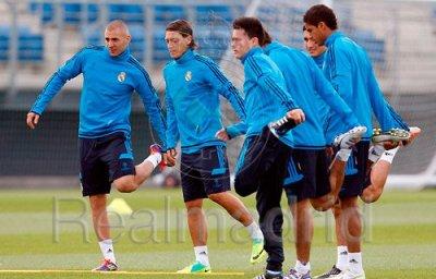 Le Real Madrid a l'entrainement