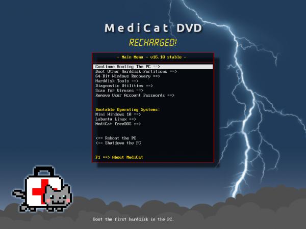 un petit bijoux MediCat : Live CD