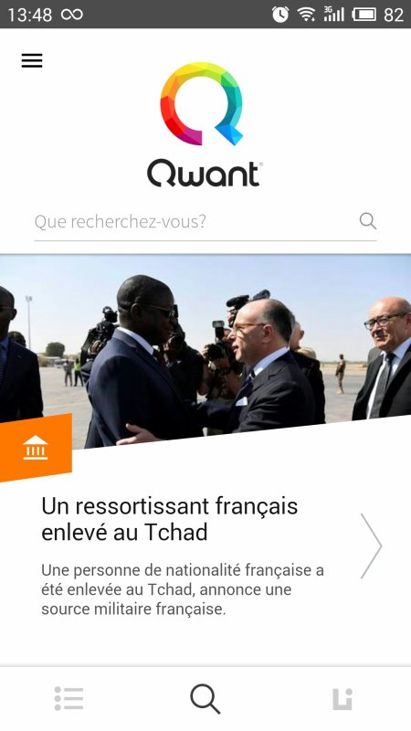Qwant App : Moteur du recherche