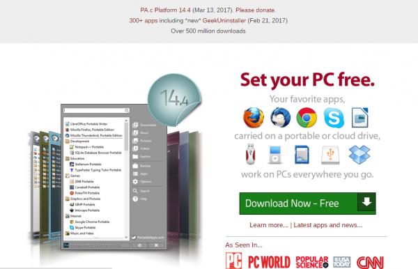 PortableApps : logiciels à emporter