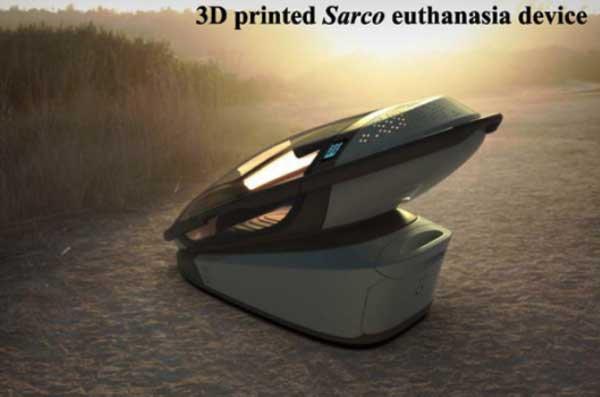 Sarco » La Machine à Suicide 'Open-Source' Imprimée en 3D va provoquer un Génocide MASSIF et Silencieux