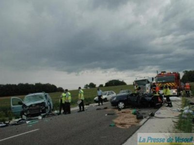 ACCIDENT MORTEL à ECHENOZ-LE-SEC DU LUNDI 23 AOUT 2010