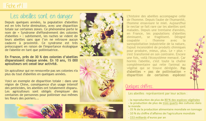 Les abeilles.