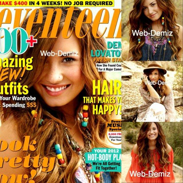Demi a poser et parler sur le magasine 'Seveteen' Voila quelque petit apercue.