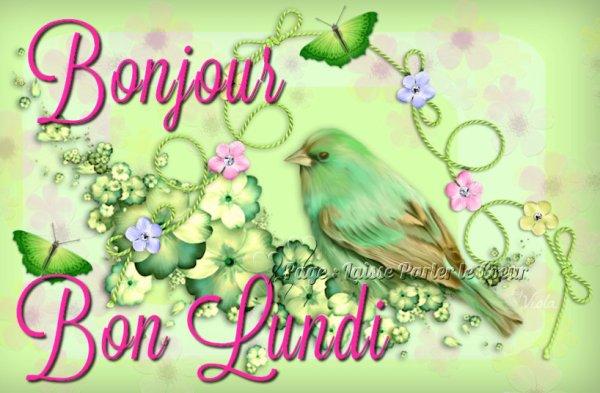 Tres Bon Lundi  bisous mes ami(es)