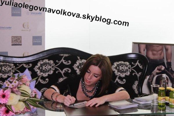 Julia Volkova at the autograph session C&C Shoes by Julia Volkova at Lotte Plaza [04.11.2013]