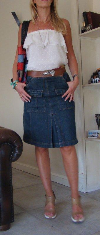 La jupe en jeans, suite.