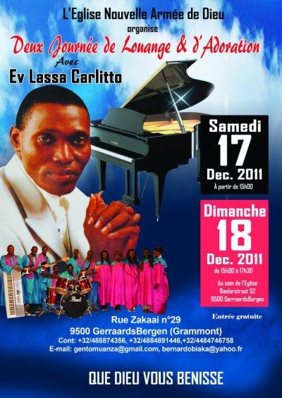 concert ev carlyto lassa et les groupe nouvelle armee de dieu