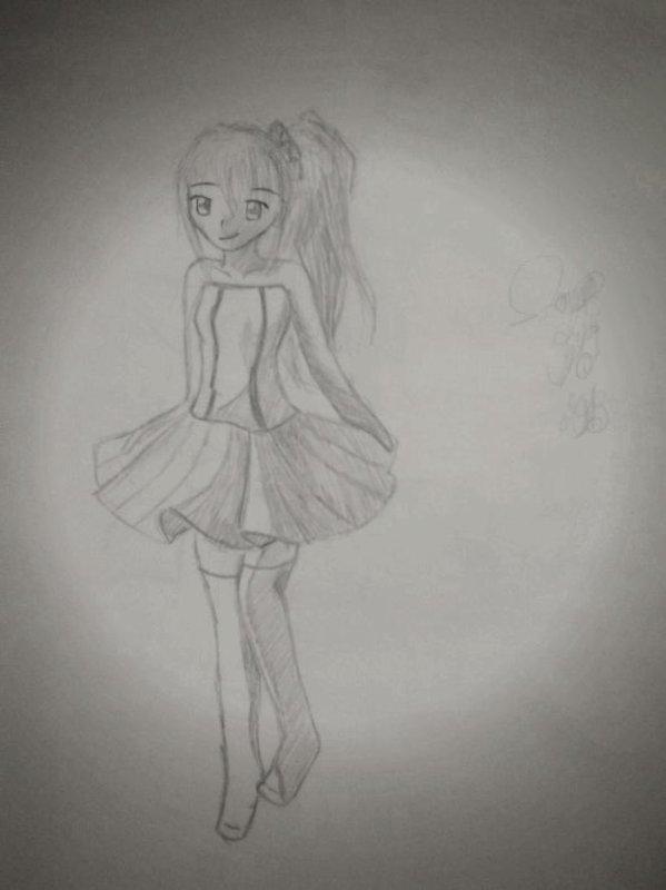 dessin d'une fille