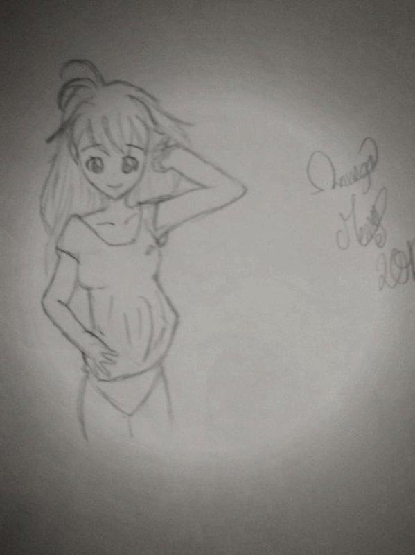 dessin de fille de mon imagination