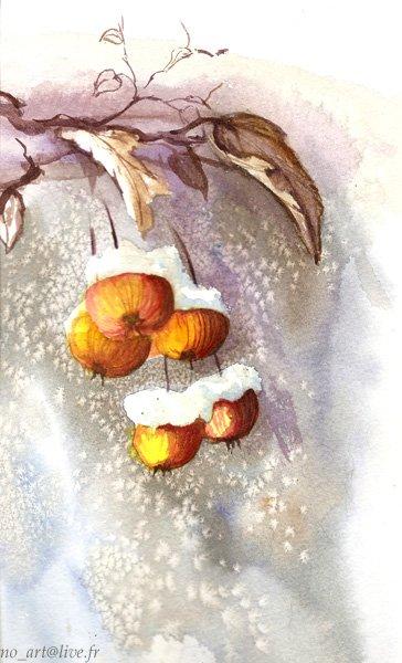 Joyeux Noël et Bonne Année!! (en ptite aquarelle ^^)