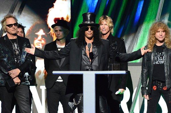 Le chanteur des Guns N'Roses Axl Rose refuse d'entrer au panthéon du rock