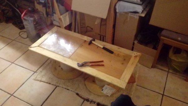 Avant demenagement ... Un autre projet ... La table du salon