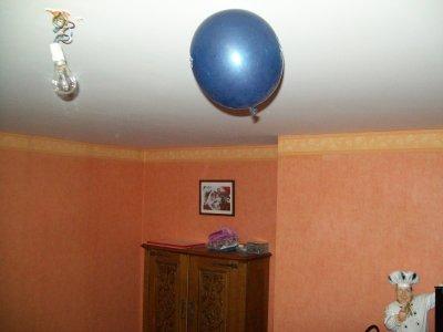 ballon au plafon