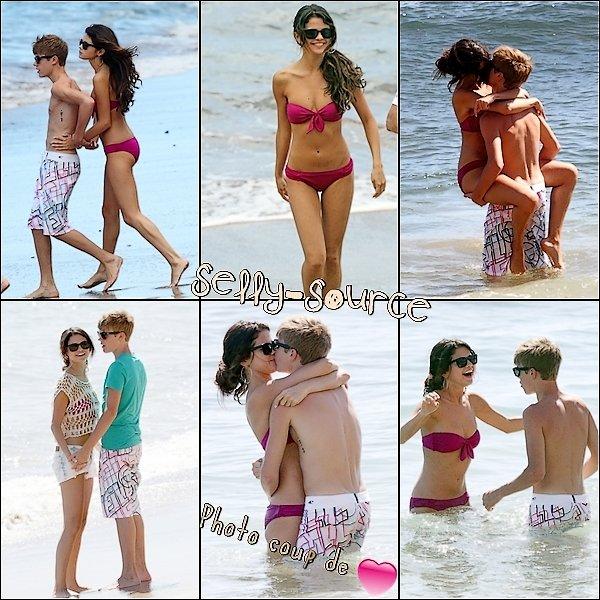Le 26 Mai : Sel' & Justin sur la plage toujours à Hawai.     > C'est beau l'amour :)