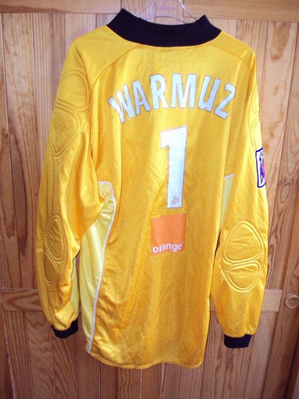 Maillot de Lens porté par Guillaume Warmuz saison 2001/2002 a vendre