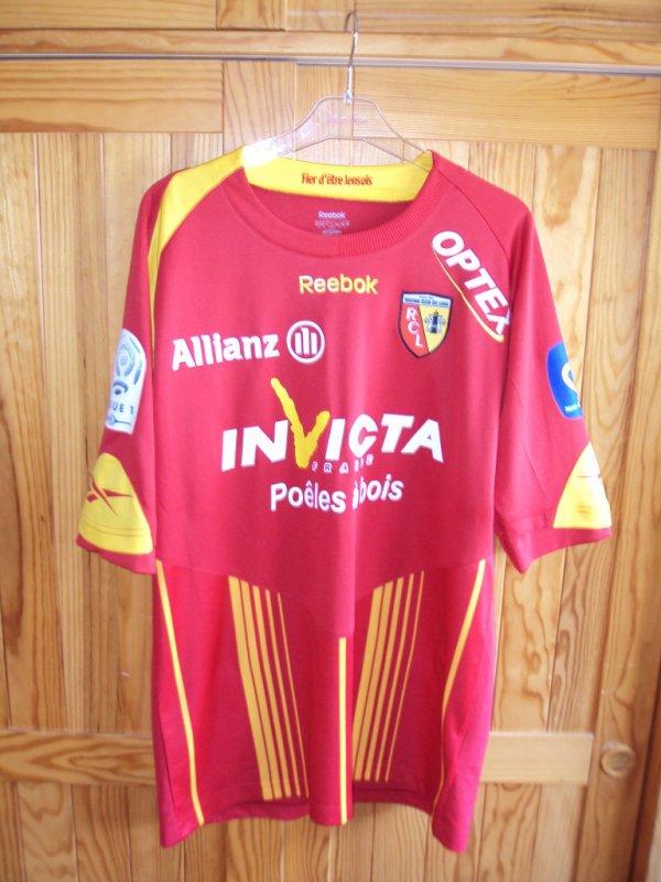 Maillot de Lens porté par Kovacevic saison 2009/2010 a vendre