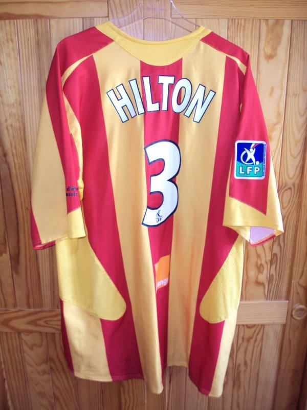 Maillot de Lens porté par Hilton saison 2002/2003