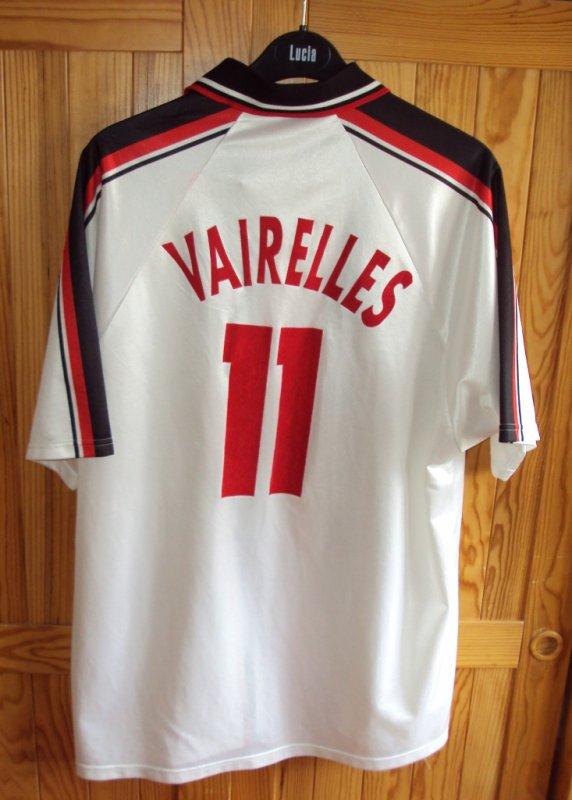 Maillot de Lens  porté  par Tony Vairelles saison 1998/1999 a vendre