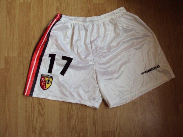 Short de Lens porté par Marc-Vivien Foé saison 1997/1998 a vendre