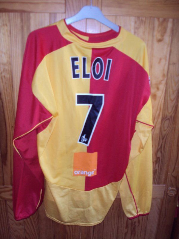 Maillot de Lens porté par Wagneau Eloi saison 2003/2004 a vendre