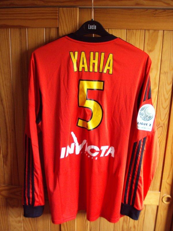 Maillot de Lens porté par Alaeddine Yahia contre Dijon saison 2013/2014