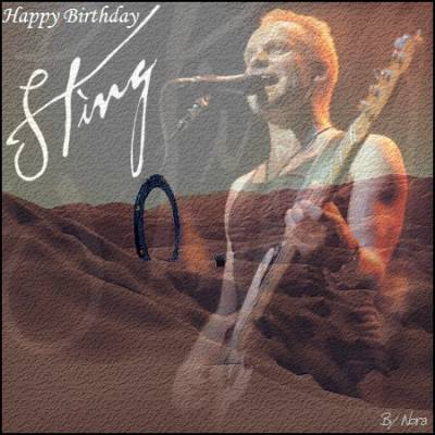 Happy Birthday Sting Såcreð Sting