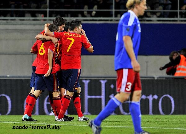 Qualif Euro 2012 - Episode 1.    LIECHTENSTEIN 0-4 ESPAÑA   Rheinpark, le 03 Septembre 2010.