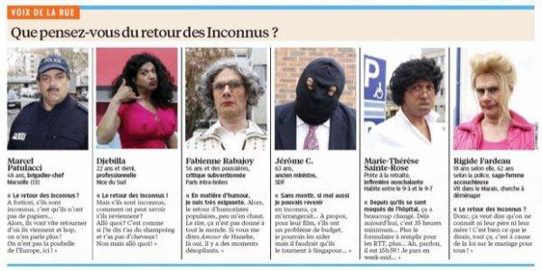 LE RETOUR DES INCONNUS OFFICIEL !!!!