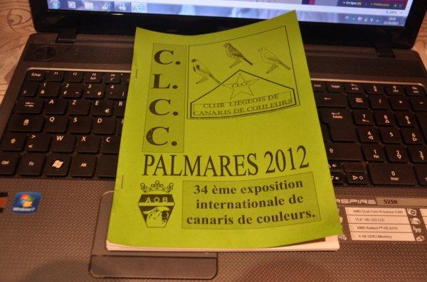 Palmarés 2012 C.L.C.C