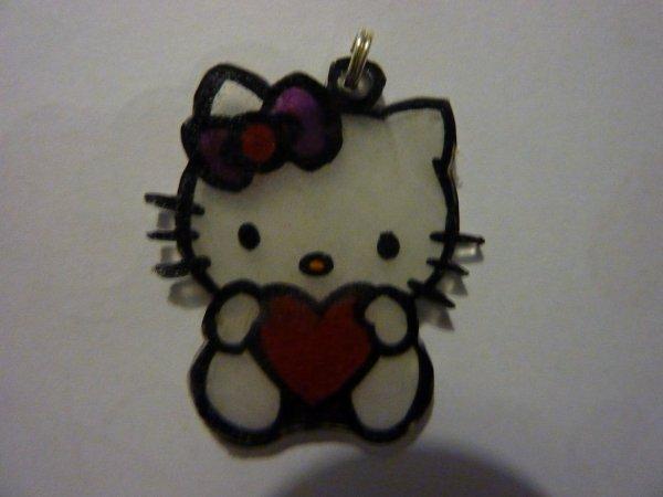 pendentif hello kitty coeur