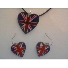 parure collier boucle d'oreille Angleterre