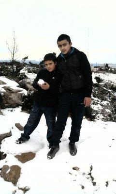 moi mon frere mon pere et moi a la neige