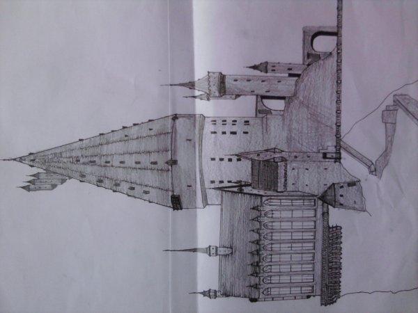 Voici mais dessin de poudlard que j'ai fait...
