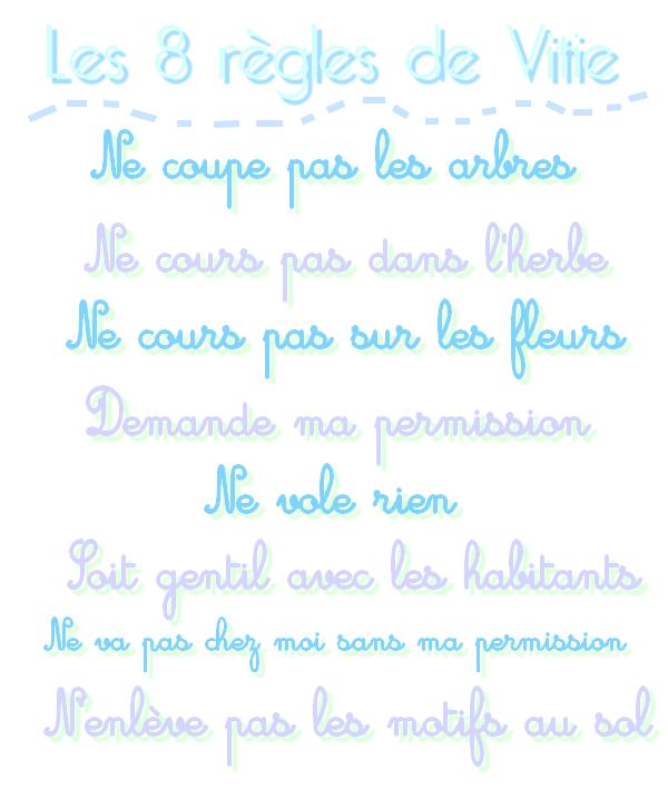 Les 8 règles de Vitie.