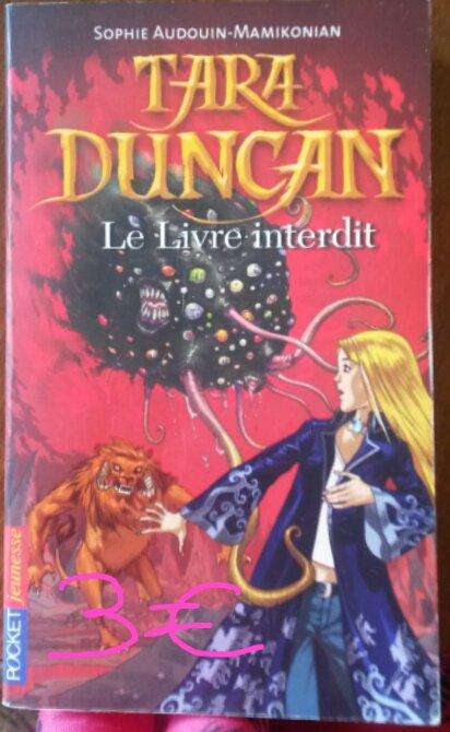 """Tara Duncan tome 2 """"Le livre interdit"""" : 3¤"""