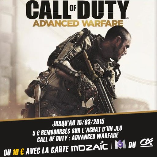 Profite de 10¤ remboursés sur Call of Duty : Advanced Warfare !